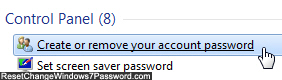 Access user account password settings in Windows 7