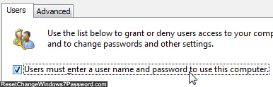Bypass skip password prompt and users logon screen in Windows 7