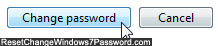 Choose a different password for another Windows 7 user