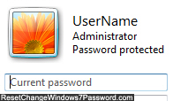 Confirm your current user account password in Windows 7