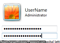 Create a new password for your user account profile
