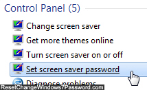 Customize screensaver password settings in Windows 7