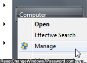 Manage My Computer security settings in Windows 7