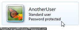 Open the user account to remove password protection