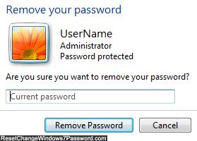 removing password windows 7