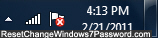 wireless network icon in Windows 7 taskbar